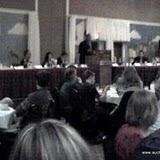 Mayor Carl Brewer addresses the KAA on opening night