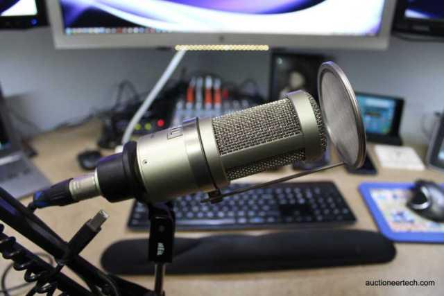 Heil PR 40 microphone with optional pop guard